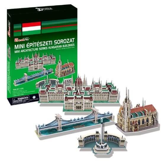 Mini építészeti sorozat Magyarország 3D puzzle CubicFun