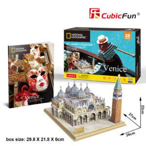 Velence Szent Márk tér 3D puzzle CubicFun
