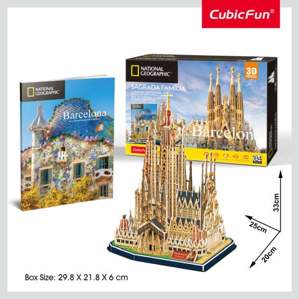 Barcelona Sagrada Família 3D puzzle CubicFun