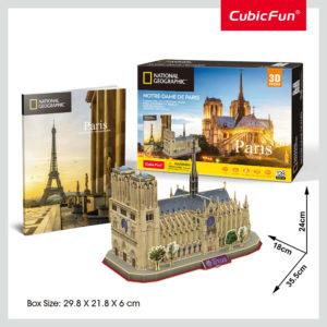 Párizs Notre-Dame 3D puzzle CubicFun