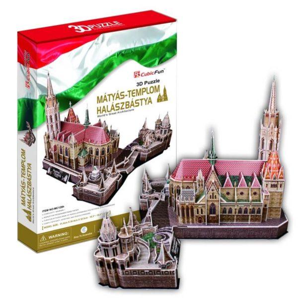 Mátyás-templom és Halászbástya 3D puzzle CubicFun