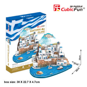 Santorini Sziget 3D puzzle CubicFun