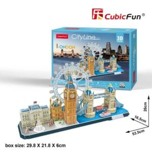 London 3D puzzle CubicFun City Line