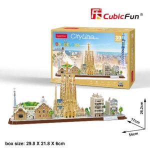 Barcelona 3D puzzle CubicFun City Line