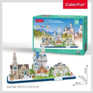 Bajorország 3D puzzle CubicFun City Line