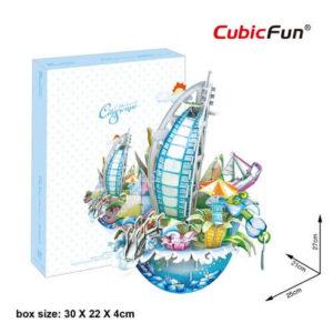 Dubai 3D puzzle CubicFun City Scape Persely