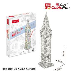 Big Ben 3D puzzle CubicFun Színező